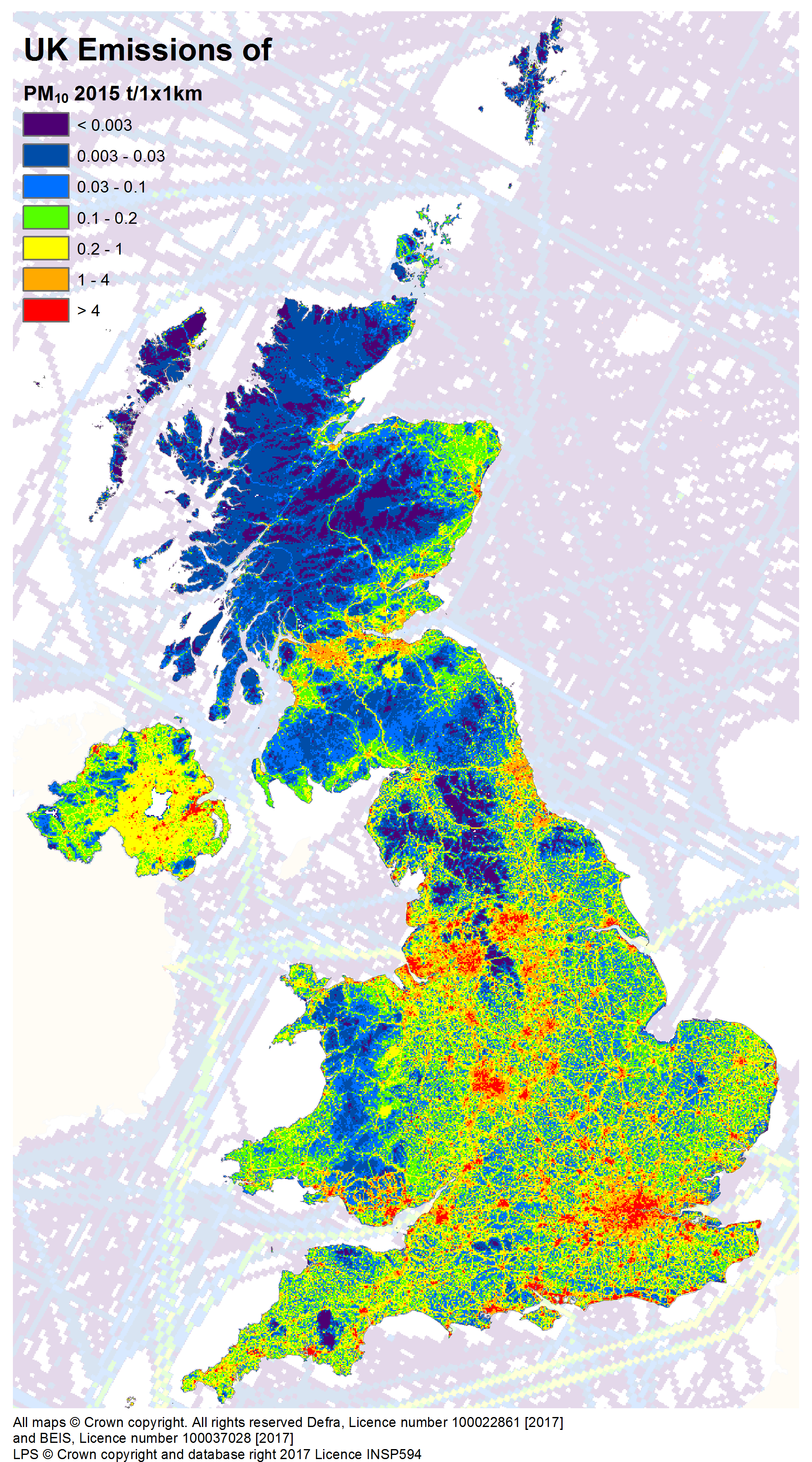 Download Emission Maps For The UK NAEI UK - All maps