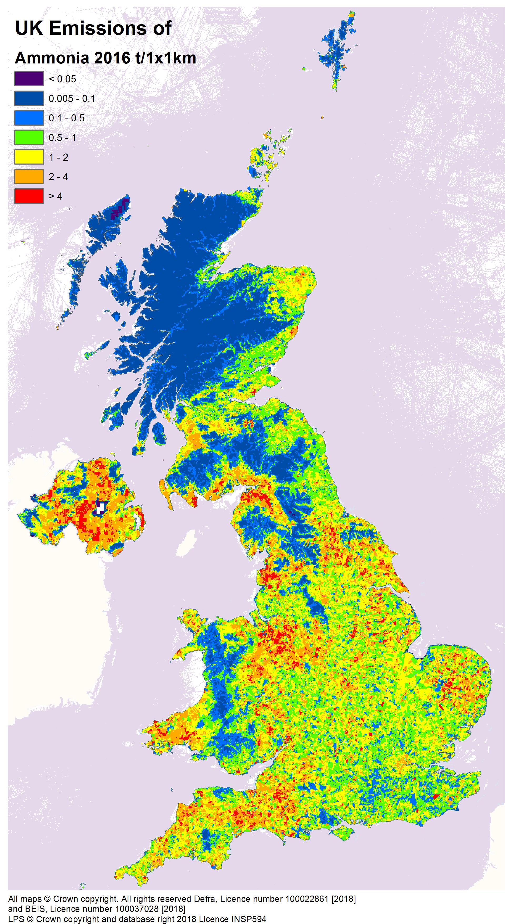 Maps 2016.Download Emission Maps Naei Uk